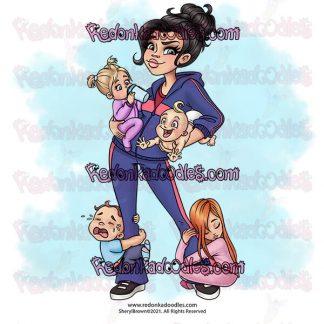 Daycare Mom Digital Stamp