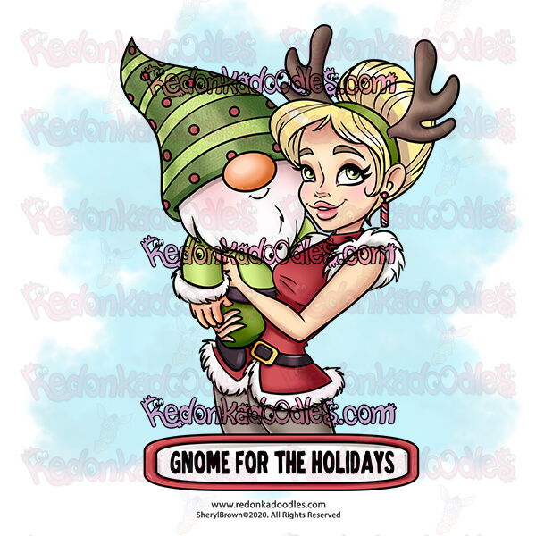 Gnome For The Holidays - Digital Stamp