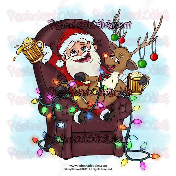 Santa digital stamp image