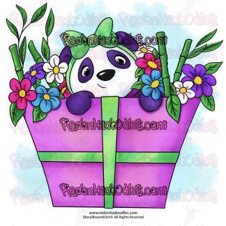 Panda Digital Stamp