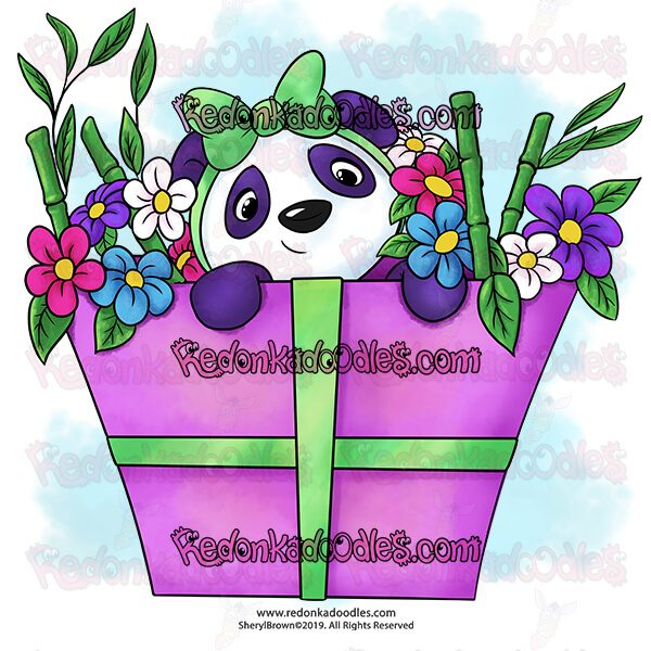 Panda Digital Stamp