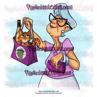 Shopping Nana Digital Stamp