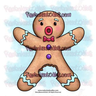 funny Christmas digital stamp for card making