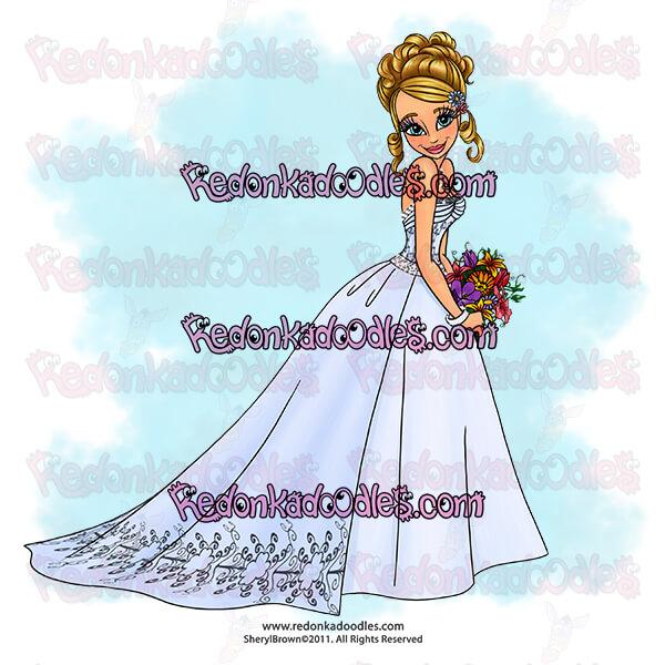 Bride digi stamp
