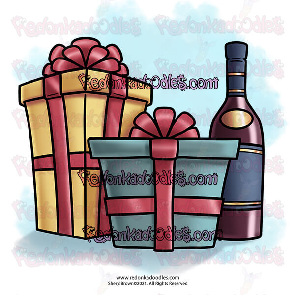Wine and Gifts - FREE Digital Stamp