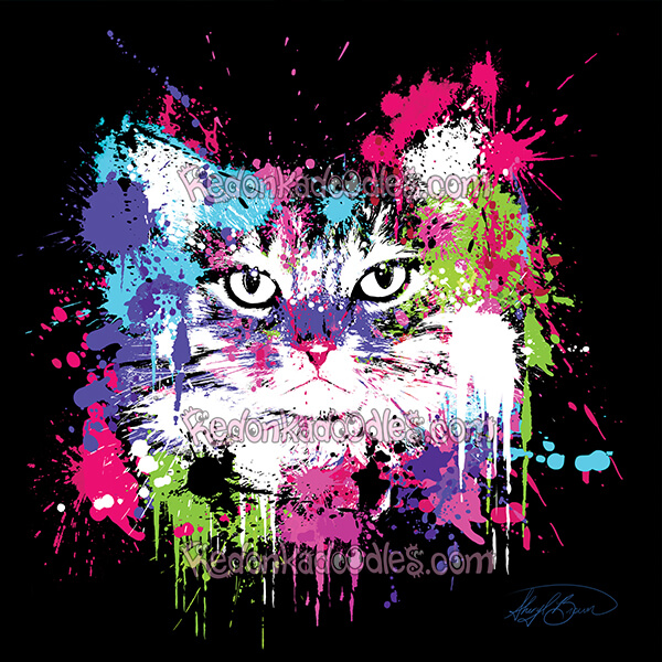 Paint Splatter Pet Portrait