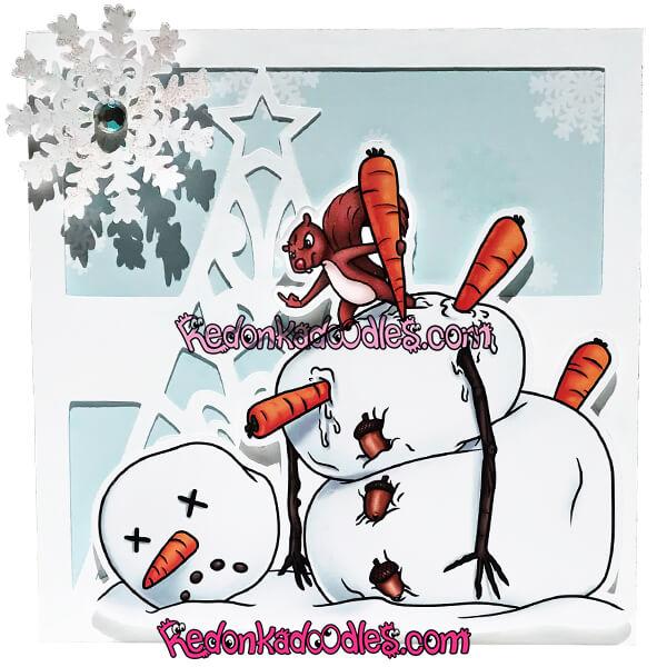 Nutty Squirrel, Christmas Digital Stamp