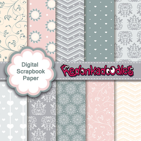 Elegance - Digital Scrapbook Papers