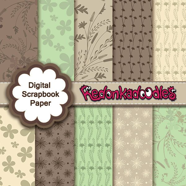 Nature Digital Scrapbook Papers