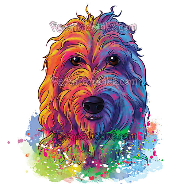 Rainbow Pet Portrait
