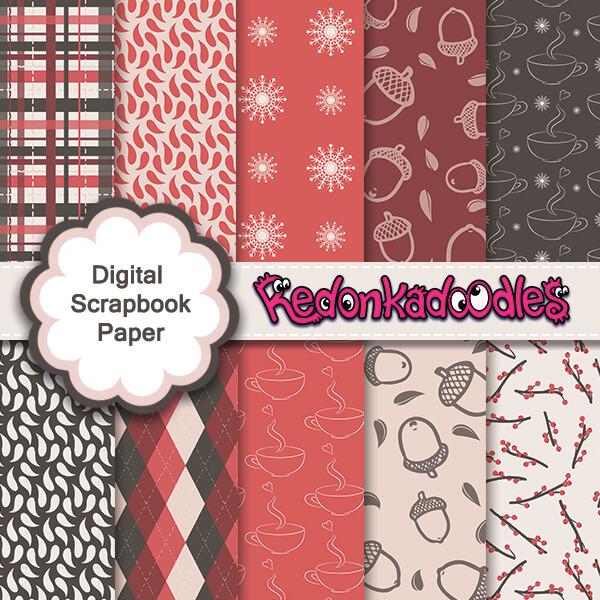 Warm Winter - Digital Scrapbook Paper